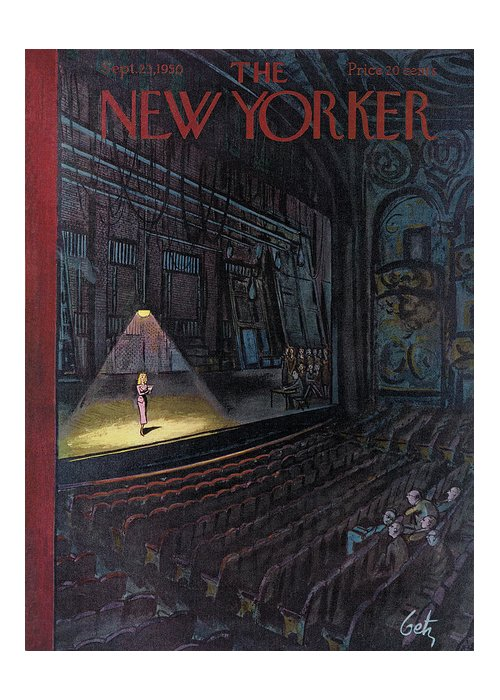 Concert Greeting Card featuring the painting New Yorker September 23rd, 1950 by Arthur Getz