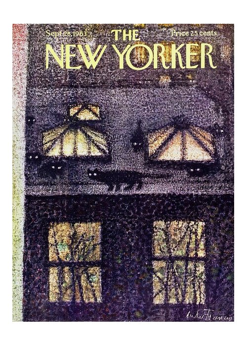 Illustration Greeting Card featuring the painting New Yorker September 28th 1963 by Andre Francois