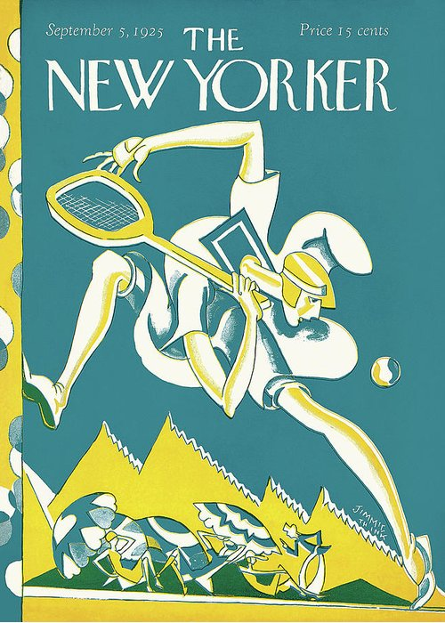 Illustration Greeting Card featuring the painting New Yorker September 5th, 1925 by James Daugherty
