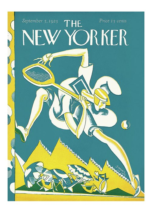 Art Deco Greeting Card featuring the painting New Yorker September 5th, 1925 by James Daugherty