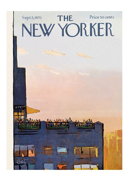 Arthur Getz Agt Greeting Card featuring the painting New Yorker September 5th, 1970 by Arthur Getz