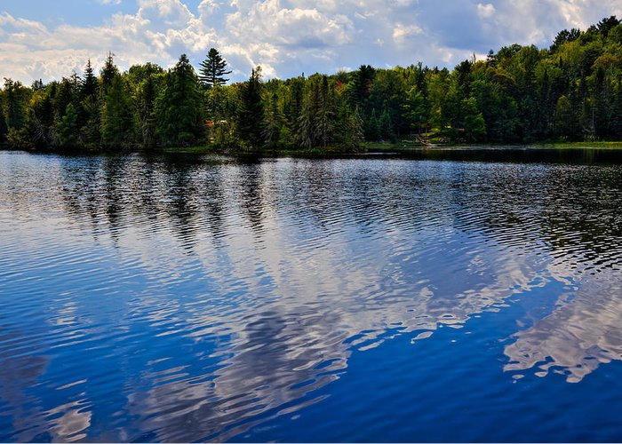 Lake Abanakee Greeting Card featuring the photograph New York's Lake Abanakee by David Patterson