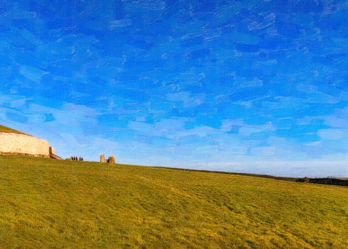 Ancient Observatory Greeting Card featuring the photograph Newgrange - Ancient Observatory In Ireland by Mark E Tisdale
