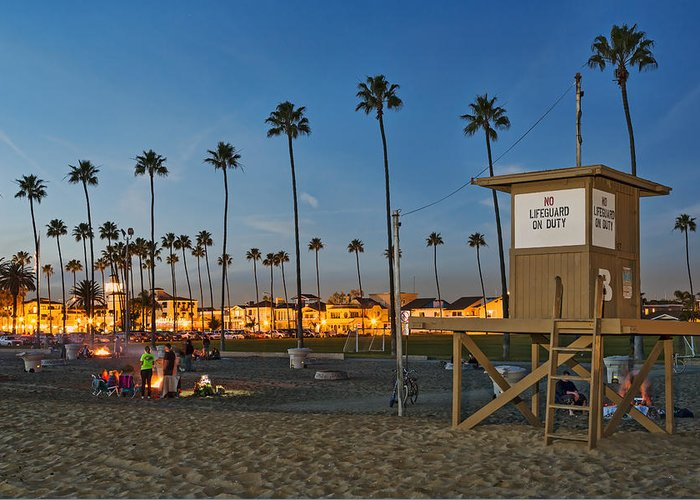 Newport Beach Greeting Card featuring the photograph Newport Beach At Dusk by Kelley King