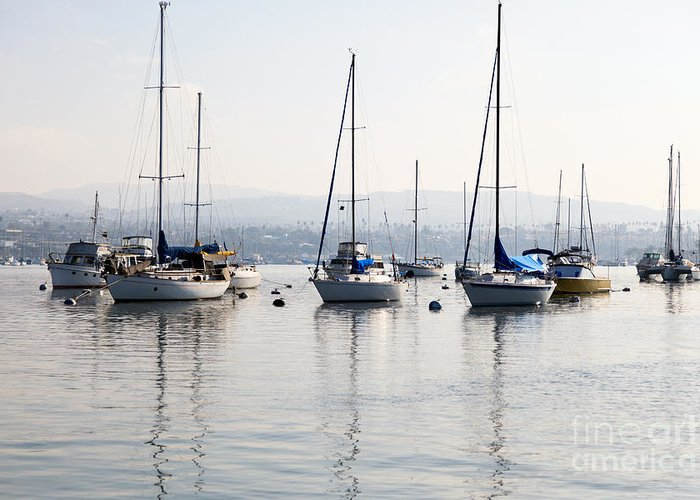 Bay Greeting Card featuring the photograph Newport Beach Bay Harbor California by Paul Velgos