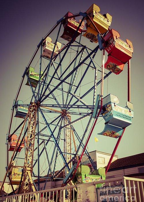 America Greeting Card featuring the photograph Newport Beach Ferris Wheel In Balboa Fun Zone Photo by Paul Velgos