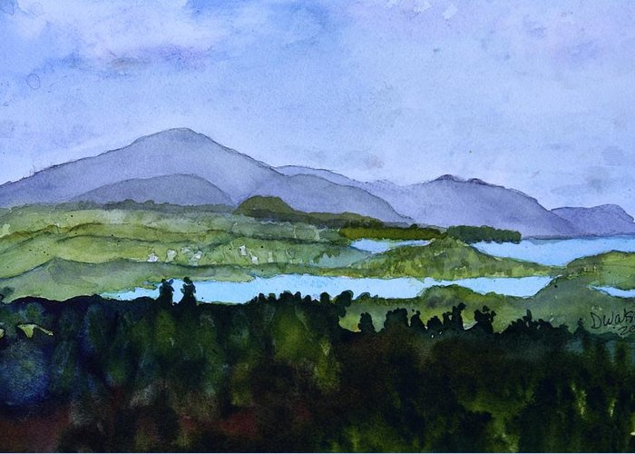 Newport Vt Greeting Card featuring the painting Newport From Brownington Lookout by Donna Walsh