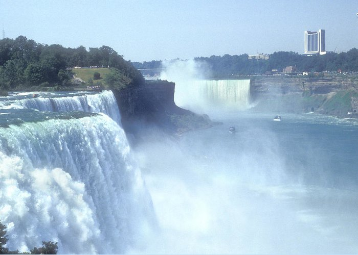 Landmark Greeting Card featuring the photograph Niagara Falls - New York by Mike McGlothlen