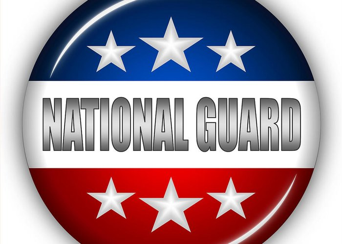 National Guard Greeting Card featuring the digital art Nice National Guard Shield by Pamela Johnson