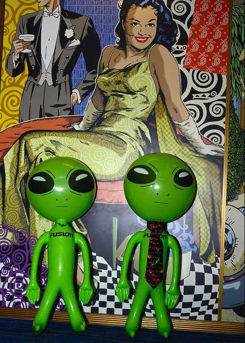 Aliens Greeting Card featuring the photograph Nice Party by Richard Henne