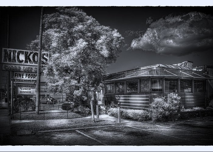 Tampa Restaurant Greeting Card featuring the photograph Nicko's Restaurant by Marvin Spates