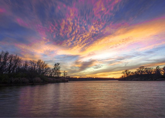 Hdr Greeting Card featuring the photograph Night Approaches by Thomas Sellberg