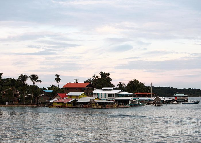 Night Is Coming At Boas Greeting Card featuring the photograph Night Is Coming At Bocas by John Rizzuto