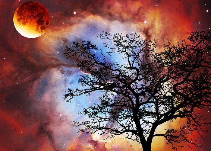 Astronomy Mixed Media Greeting Cards