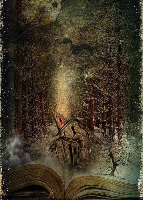 Art Greeting Card featuring the digital art Night Story by Svetlana Sewell