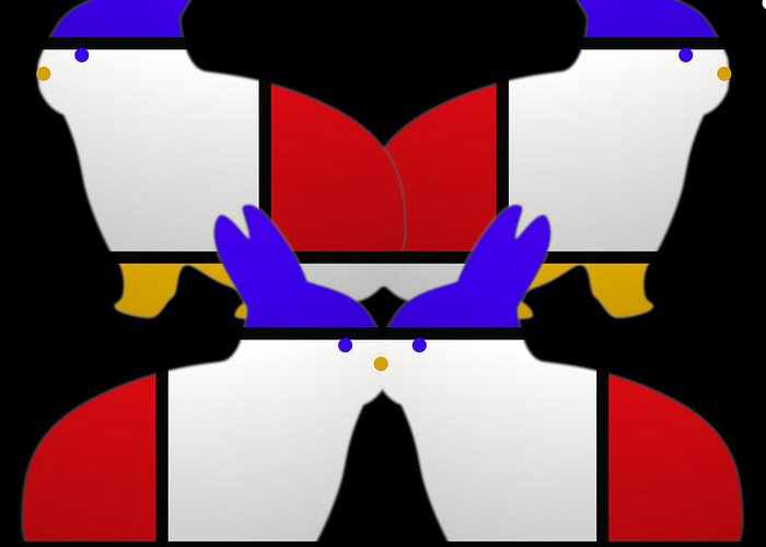 De Stijl Greeting Card featuring the painting Night Watch by Charles Stuart