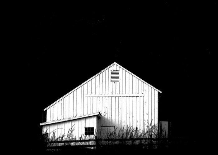 White Barns Greeting Card featuring the photograph Nightfall by Angela Davies