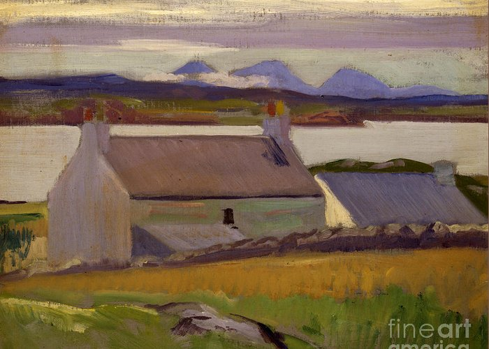 Cadell Greeting Card featuring the painting Nightfall Iona by Francis Campbell Boileau Cadell