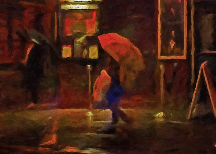 Nightlight Greeting Card featuring the painting Nightlife by Michael Pickett