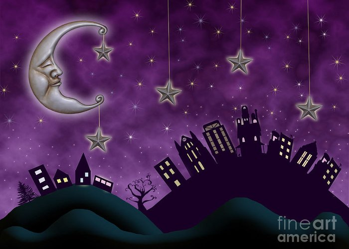 Nighty Night Greeting Card featuring the photograph Nighty Night by Juli Scalzi