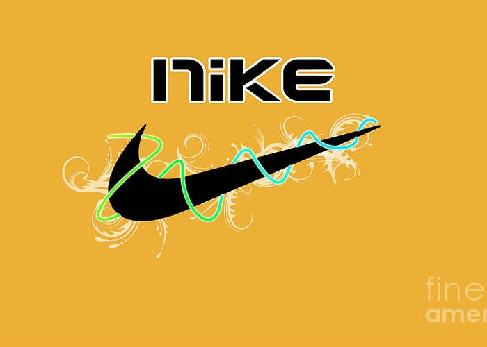 Nike Greeting Card featuring the digital art Nike by Roy Lavi