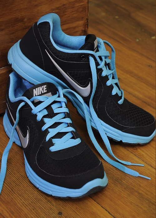 Nike Greeting Card featuring the photograph Nike Shoes by Nicole Berna