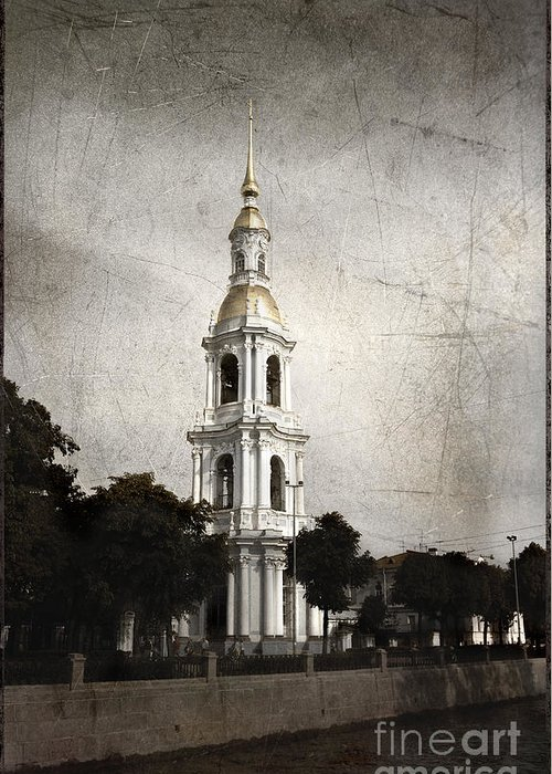 Nikolsky Cathedral Greeting Card featuring the photograph Nikolsky Cathedral by Elena Nosyreva