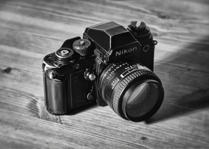 Nikon Greeting Card featuring the photograph Nikon F3 by Taylan Apukovska