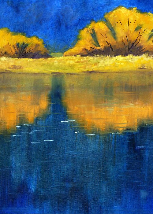 Nisqually River Greeting Card featuring the painting Nisqually Reflection by Nancy Merkle