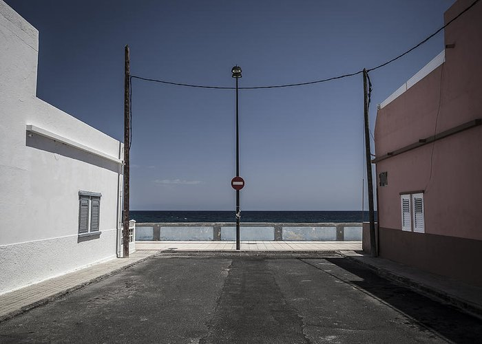 Canary Islands Greeting Card featuring the photograph No Entry To The Sea by Olaf Reinen