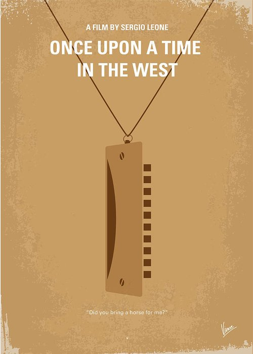Once Greeting Card featuring the digital art No059 My Once Upon A Time In The West Minimal Movie Poster by Chungkong Art