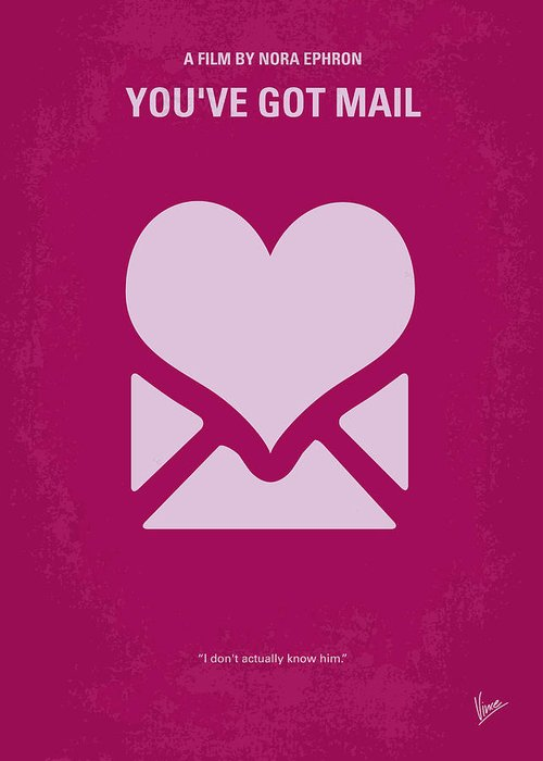 You Greeting Card featuring the digital art No107 My Youve Got Mail Movie Poster by Chungkong Art