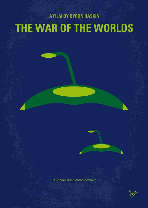 War Greeting Card featuring the digital art No118 My War Of The Worlds Minimal Movie Poster by Chungkong Art