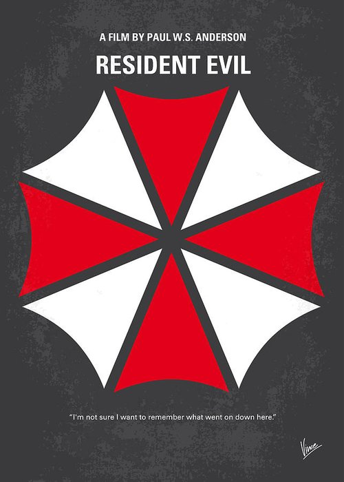 Resident Greeting Card featuring the digital art No119 My Resident Evil Minimal Movie Poster by Chungkong Art
