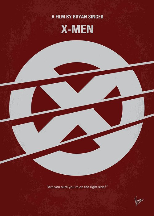 Xmen Greeting Card featuring the digital art No123 My Xmen Minimal Movie Poster by Chungkong Art