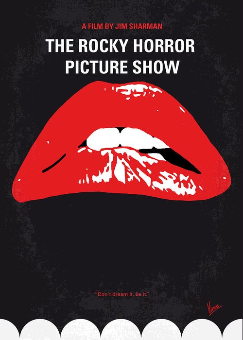 The Greeting Card featuring the digital art No153 My The Rocky Horror Picture Show minimal movie poster by Chungkong Art