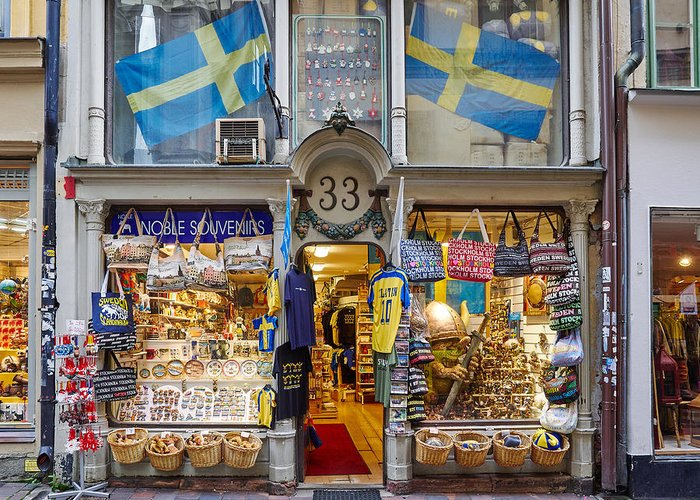 Lehto Greeting Card featuring the photograph Noble Souvenirs. Stockholm 2014 by Jouko Lehto