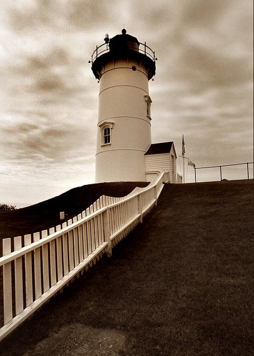 Cape Cod Greeting Card featuring the photograph Nobska Lighthouse by Skip Willits