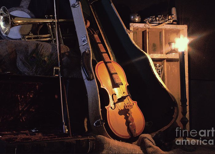 Musical Instrument Still Life Greeting Card featuring the photograph Nocturne by Joe Pratt