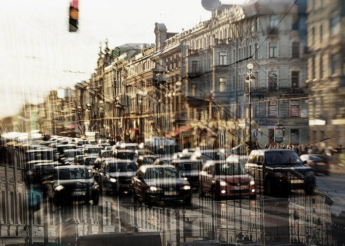 City Greeting Card featuring the photograph Noise In The City by Leonids Vaznais