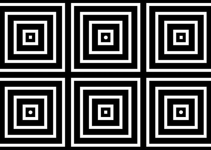 Optical Illusion Maze Greeting Cards