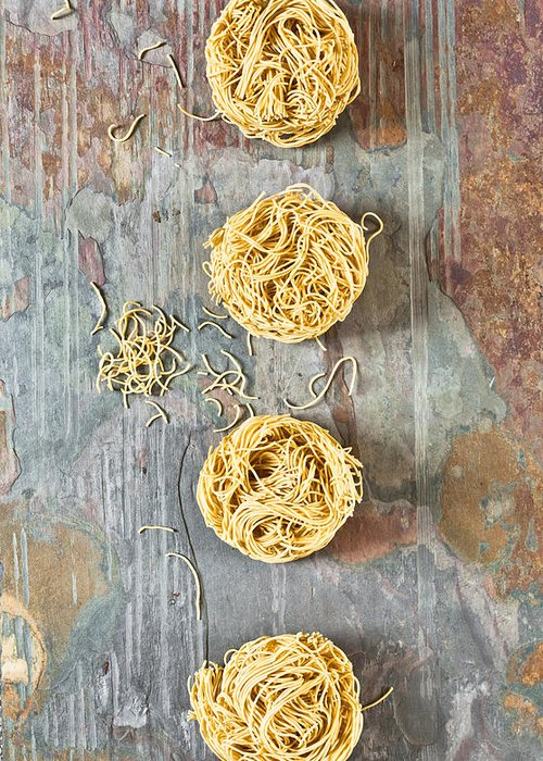 Asian Greeting Card featuring the photograph Noodles by Tom Gowanlock