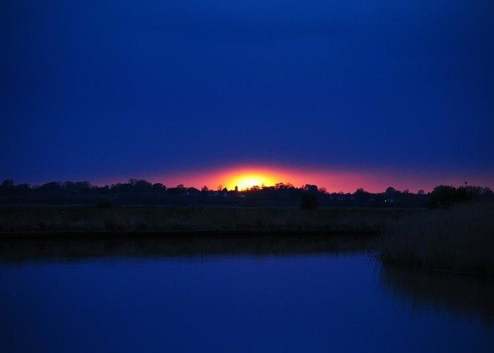 Sunset Greeting Card featuring the photograph Norfolk Sunset by Graham Wood