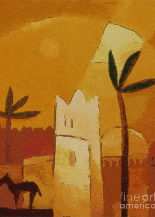 Africa Greeting Card featuring the painting North Africa by Lutz Baar