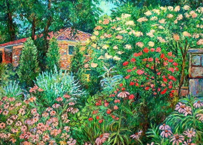 Garden Greeting Card featuring the painting North Albemarle In Mclean Va by Kendall Kessler