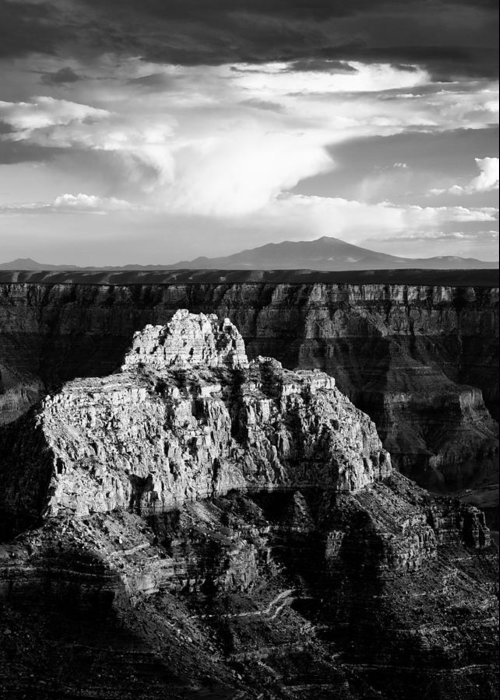 Grand Canyon Greeting Card featuring the photograph North Rim by Dave Bowman