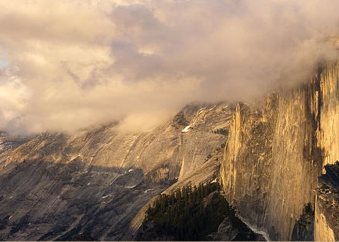 Yosemite Greeting Card featuring the photograph North Valley Panoramic by Bill Gallagher