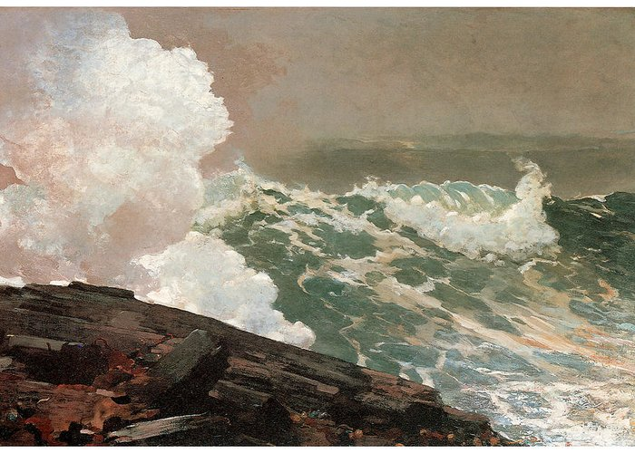 Winslow Homer Greeting Card featuring the painting Northeaster by Winslow Homer