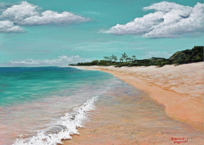 Hawaii Greeting Card featuring the painting Northshore Oahu by Darice Machel McGuire