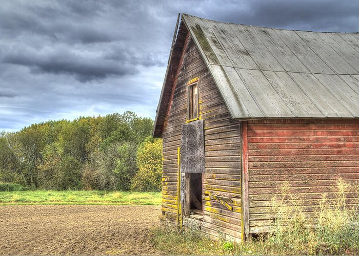 Oregon Greeting Card featuring the photograph Northwest Barn by Jean Noren